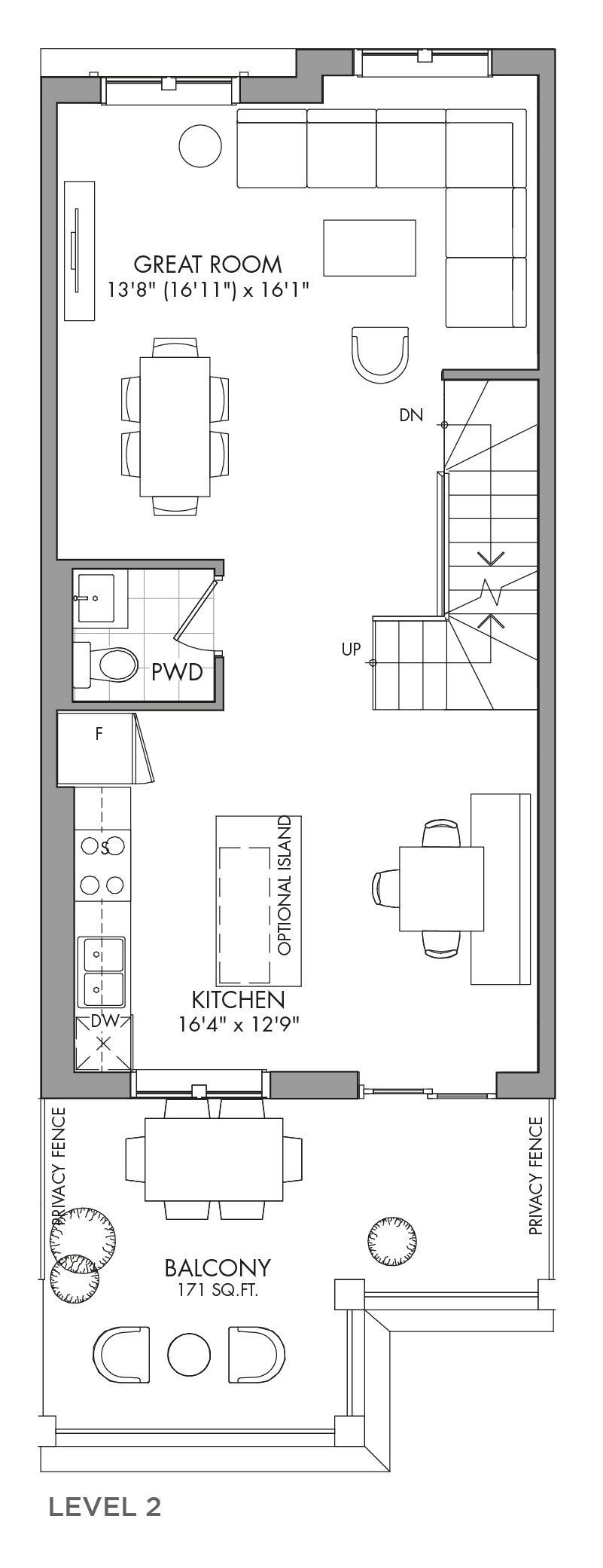 The Aspenwood, FloorPlan Level2