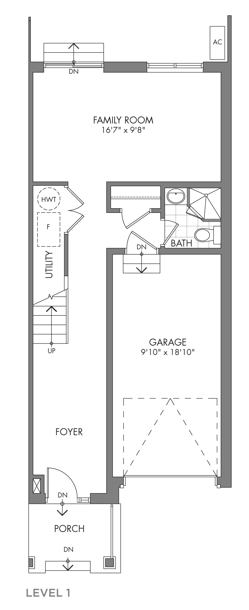 The Cedarglen, FloorPlan Level1