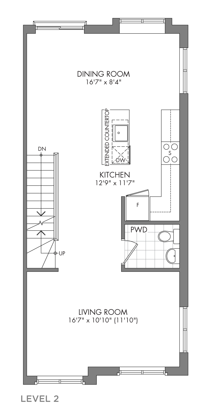 The Cedarglen, FloorPlan Level2
